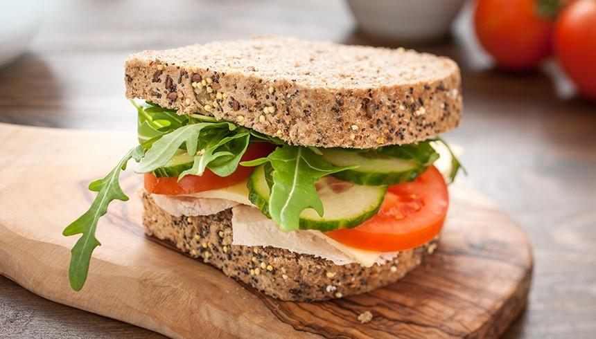 Ein dank des Safeloc® Sandwich-Beutels frisches Sandwich.