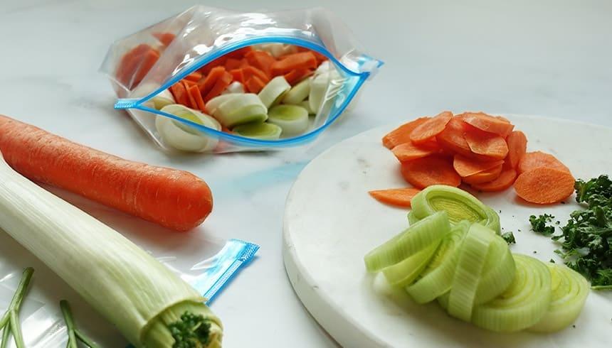 Frisches Gemüse im Zipper® Allzweck-Beutel