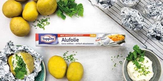 Toppits® Alufolie Doppelkraftwaben mit easy-cut System