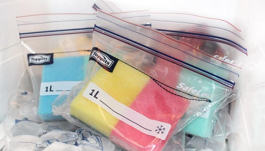 Toppits® Ruck-Zuck Beutel als Kühlpack verwendet