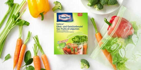 Toppits® Safeloc® Obst- und Gemüsebeutel
