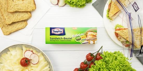 Toppits® Sandwich-Beutel mit SafeLoc®